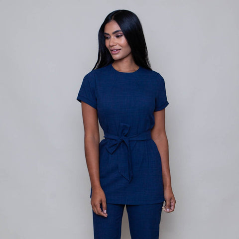 'The One' Salon Tunic in Textured Stretch