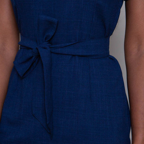 'The One' Spa Therapist Tunic in Textured Stretch Close Up