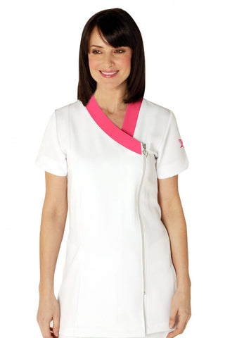 Haven Tunic in White and Hot Pink from Salonwear