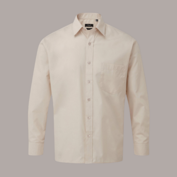 Premier Long Sleeve Poplin Shirt Pastel Colours