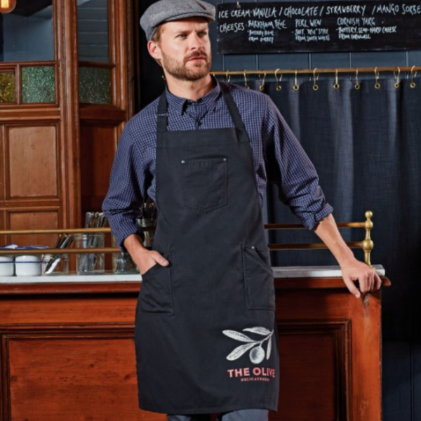 Premier 'Chino' Cotton Full Bib Barber Apron