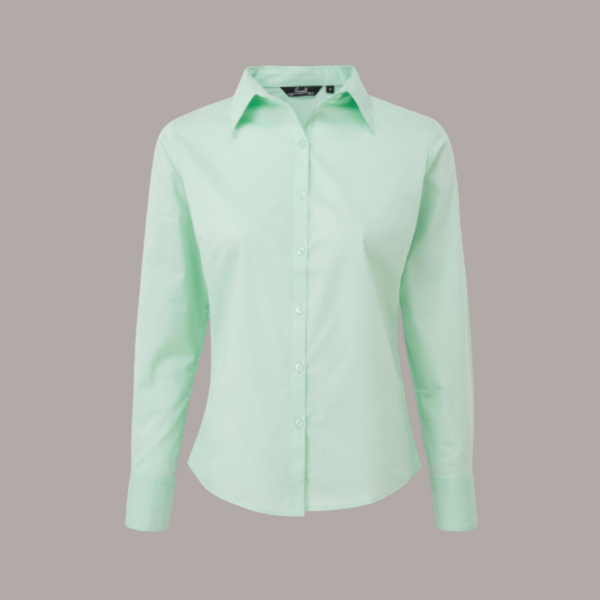 Premier Long Sleeve Poplin Blouse Pastel Colours