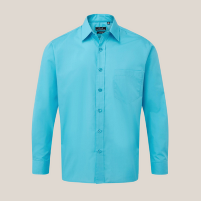 Premier Long Sleeve Poplin Shirt Bright Colours