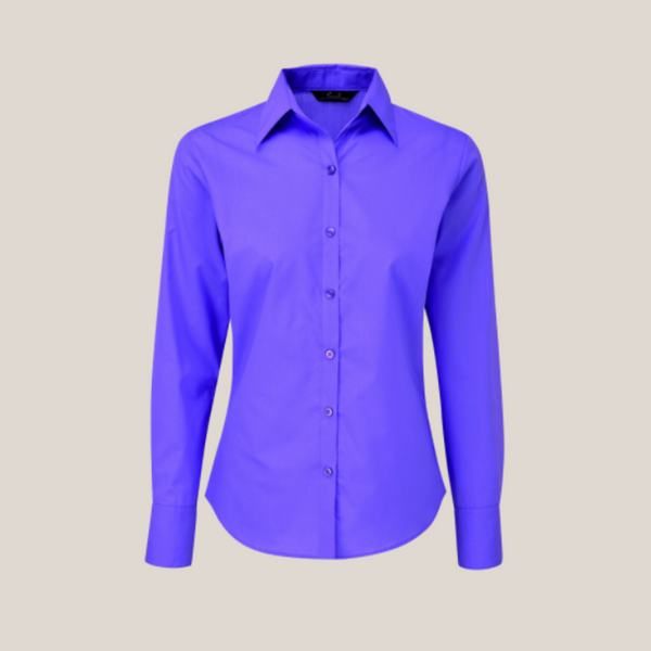 Premier Long Sleeve Poplin Blouse Bright Colours