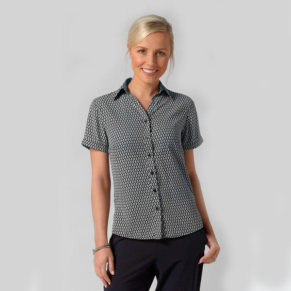 Emma Polyester Crepe Printed Work Blouse