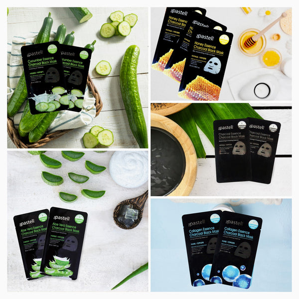 The Pastel shop - Bamboo Charcoal Sheet Mask - Assorted 12 Pack