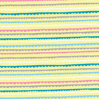 Minny Muu Scallop Stripe in Yellow