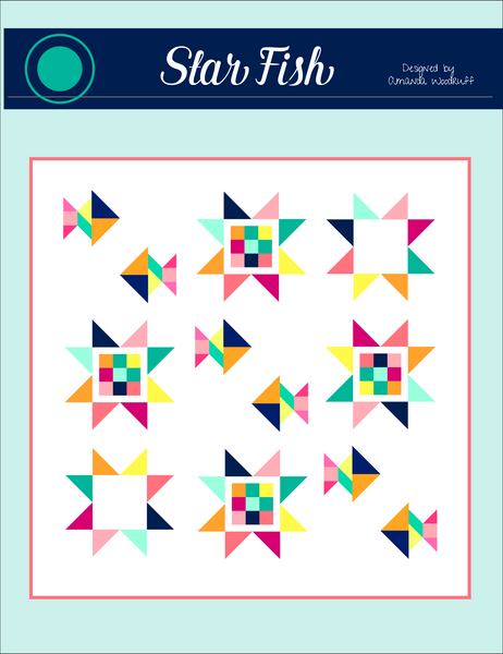 Starfish Fish Quilt Pattern ONLY - PDF Pattern