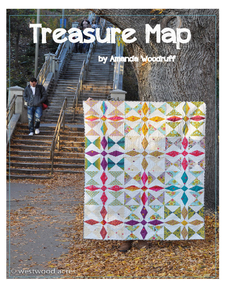 Treasure Map digital quilt pattern by Amanda of Westwood Acres for sale