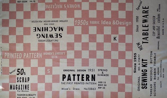 Sewing Checkers Block in Pink