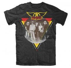 Aerosmith Triangle Photo T-Shirt - Officially Licensed by Band 100% Cotton Large & Extra Large Only