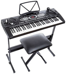 Alesis LQSM Melody 61 Key Portable Electronic Keyboard Built in Speakers Stand Bench Microphone Black Free Shipping USA 2017