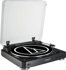 Audio Technica At-LP60BK-BT Bluetooth Belt Drive Built In Pre Amp Automatic Turntable W/Cartridge System-Black-Includes Shipping USA
