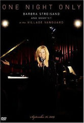 Barbra Streisand: One Night Only Live At The Village Vanguard 2009 DVD 2010 16:9 Dolby Digital 5.1 90 Minutes