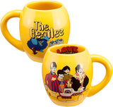 Beatles Yellow Submarine 18 oz. Oval Ceramic Mug (Ceramic Mug) Microwave Safe Sold In Pairs only Includes Free Shipping USA