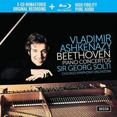 Beethoven: The Piano Concertos Vladimir Ashkenazy  W/Chicago Symphony Orchestra 1973 3CD/Blu-ray Audio Only 96kHz/24bit HiRes Box Set, 4PC 2018 Release Date 1/12/18