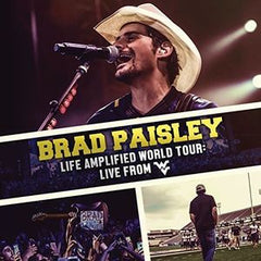 "Brad Paisley: ""Live Amplified World Tour"" Live West Virginia 2016 Deluxe Edition CD/DVD 2016 12-23-16 Release Date"