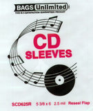 CD Sleeves: Bags Unlimited SCD625R CD Jewel Case Resealable Sleeve-100Ct
