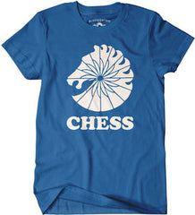 Chess Records: Bluescentric Chess Records Blue Classic Heavy Cotton T-Shirt Official Licensed Med-Large-XL