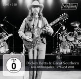 Dickey Betts & Great Southern Band:  Live At Rockpalast 1978 & 2008 (3 CD/2 DVD) 2019 Release Date 4/5/19