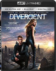 Divergent:  Divergent 4K Ultra HD Mastering, Digital Theater System, Starring: Shailene Woodley, Theo James 2016 07-12-16