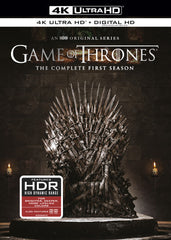 Game of Thrones: The Complete First Season (Black, 4K Ultra HD 4K Mastering, Boxed Set, Ultraviolet Digital Copy, 4PC)  Ultra HD 2018 Release Date 6/5/18