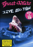 Great White: Live & Raw Irvine & Modesto CA 1990's DVD Bonus CD Edition 2011 16:9 Dolby Digital 5.1 29 Live Tracks