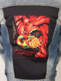 Guns N Roses & Metallica Serpent Scream Blue Jean Jacket (Men's Medium-Large-XL-XXL) 2018