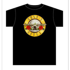 "Guns N' Roses Bullet Logo T-Shirt ""Band Licensed"" 100% Cotton Large Only"