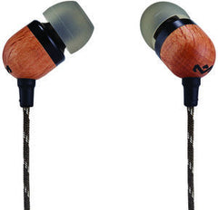 House Of Marley Earbuds Smile Jamaica (Tan) W/Mic 9.2mm Drivers FSC Wood Rear Housing & Aluminum Front Housing