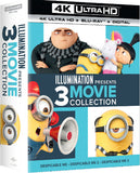 Despicable Me: Illumination Presents 3 Movie Collection Box Set (4K Ultra HD+Blu-ray+Digital) 3 Movie Boxed Set) Rated: PG 2018 Release Date 3/13/18