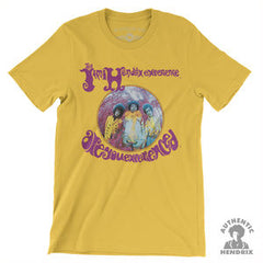 Jimi Hendrix Experience Are You Experienced: Yellow Lightweight Vintage Style T-Shirt 100% Cotton (Small-Med-LG-XL-XXL-XXXL) 2018