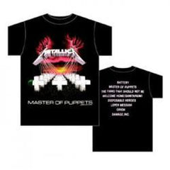 "Metallica: Master Of Puppets T-Shirt ""Band Licensed"" Large 100% Cotton Large & Medium Only"