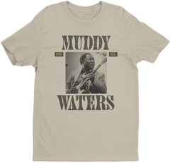 Muddy Waters King Bee Cream Lightweight Vintage Style T-Shirt Med-Large-XL-XXL-2018