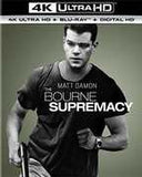 The Bourne Supremacy (With Blu-Ray, 4K Mastering, Ultraviolet Digital Copy, 2 Pack, Snap Case) 2016 12-06-16 Release Date