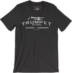 Trumpet Records Black Lightweight Vintage Style CottonT-Shirt Med-Large-XL-XXL 2018