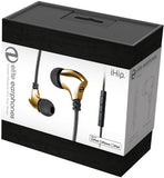 iHIP: Gold Elite Zinc-Alloy Earphones W/Mfi-Mic (Gold, With Microphone, In-Ear Headphones, Earbuds)