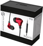 iHIP: Red Elite Zinc-Alloy Earphones W/Mfi-Mic (Red, With Microphone, In-Ear Headphones, Earbuds)