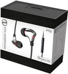 IHIP: Silver Elite Zinc-Alloy Earphones W/Mfi-Mic (Silver, With Microphone, In-Ear Headphones, Earbuds)