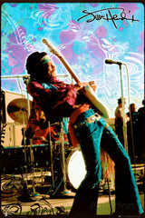 "Jimi Hendrix Poster 24"" x 36"" Live Woodstock-Includes Special Shipping"