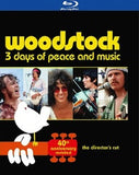 Woodstock 3 Days of Peace and Music 1969 40th Anniversary Edition The Director's Cut 3 Discs (Blu-ray) 2014 Dolby Digital 5.1 Surround