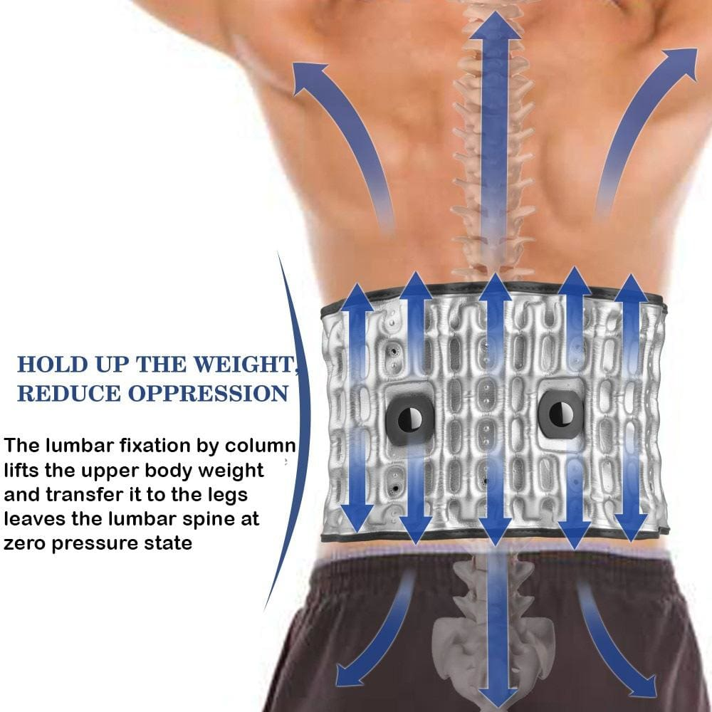 Halipax Decompression Lumbar Support Belt (UPGRADE 2.0 With Heath Therapy)