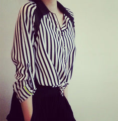 blouse in stripes