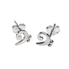 Bass Clef Stud Earrings
