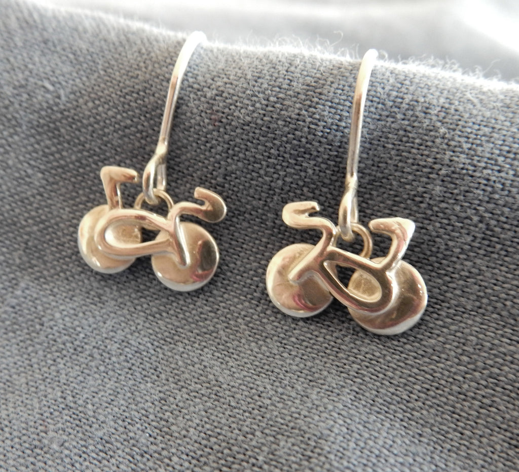 Bicycle Drop Earrings