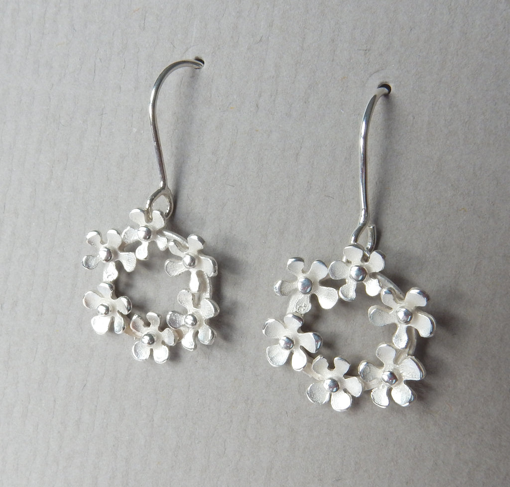 Bouquet Circle Drop Earrings