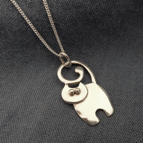 Cat Pendant and Chain