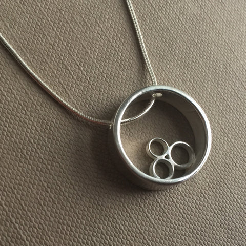 Open Circle Cluster Necklace