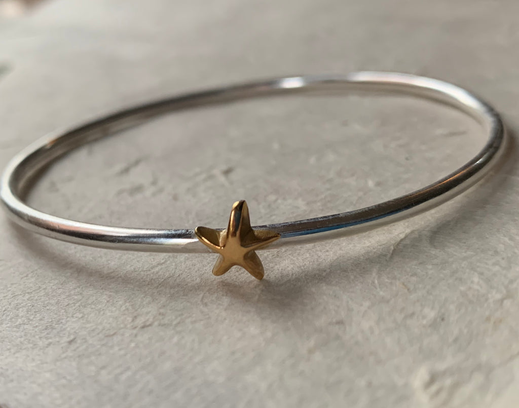 Gold and Silver Star Bangle