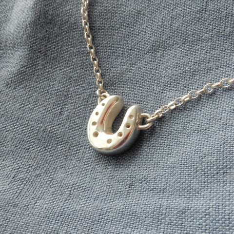 Horse Shoe Pendant and Chain